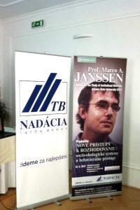 Poster announcing Marco's talk in October 2011 in Bratislava, Slovakia