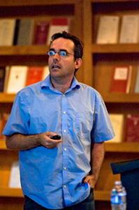 Giving a talk at the Law School of ASU in 2010