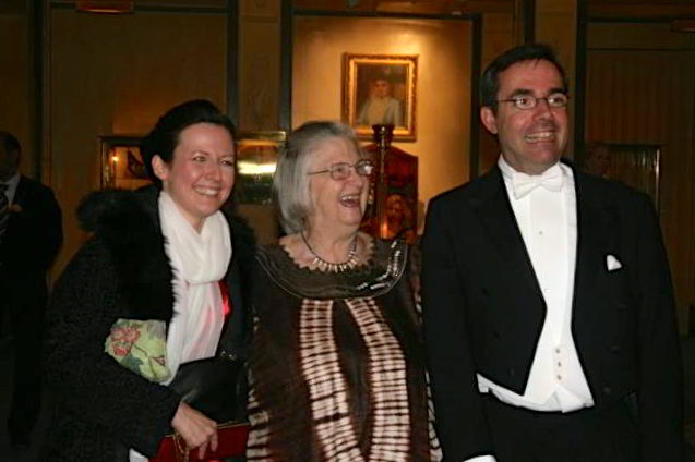 With Ann Lindh and Lin Ostrom before the Nobel Ceremony December 10, 2009 in Stockholm