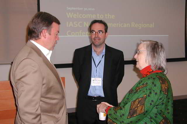 with ASU President M. Crow and Lin Ostrom 2010