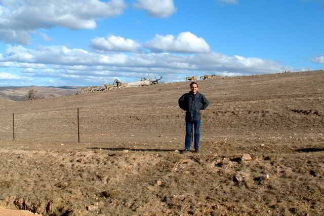 In front of overgrazed land in Australia 2002