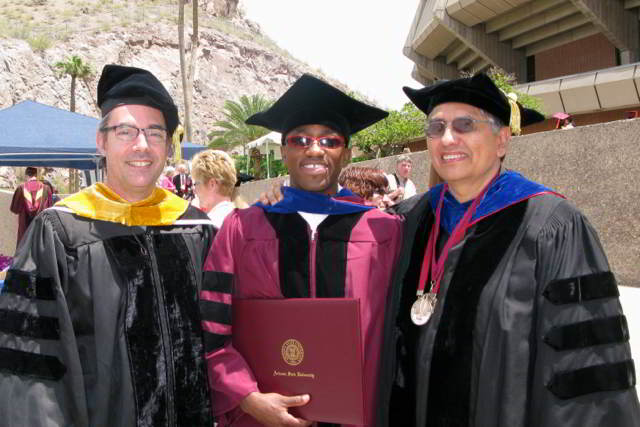 With new Dr. Kehinde Salau and Professor Carlos Castillo Chavez, May 2013