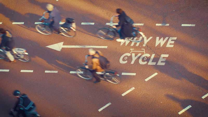 screenshot of the documentary Why we cycle